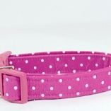 Magenta Dot Dog Pet Collar