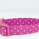 Sassy Hot Pink Dot Dog Pet Collar