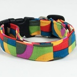 Vibrant Multi-color Geometric Dog Pet Collar