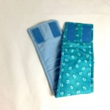 Aqua Paw Print Belly Band Male Dog Diaper