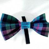 Pink and Blue Plaid Collar Bowtie Accessory for Dogs and Cats