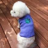 SASSY PAW Purple Paw Print Dog T-shirt