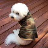 SASSY PAW Bone Camouflage Bark Shirt for Outdoorsy Dogs