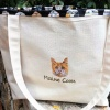 Personalized JUMBO Exotic Pet Cat Breed Tote Bag