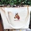 Personalized Jumbo Horse Breed Tote Bag