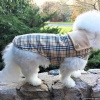 Burberry-inspired Unisex Tan Plaid Warm Dog Coat for Winter