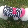 Zebra Fur Coat for Dogs