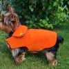 Field Coat and Hunting Orange Dog Coat with Reversible Camouflage Interior for Sport Dogs