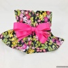 Tail Wagger Pink and Black Floral Female Dog Diaper Panty