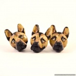 German Shepherd Dog Breed Magnets- Set of 3