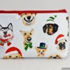 Holiday Dog Selfies Toiletry Travel Bag Gift for Dog Lovers