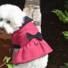 Bella & Friends Fuchsia Boucle Cold Weather Designer Custom Dog Coat with Cozy Plush Interior for Small and Medium Dogs