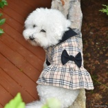 Bella & Friends Famous Designer Tan Plaid Cold Weather Dress Dog Coat