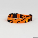Halloween Spooky Cats with Harvest Moon and Stars Dog Pet Collar