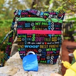 Dog Walker Bag Gift for Dog Lovers – Multi Color Pet Text