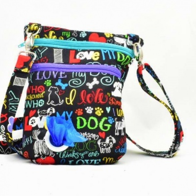 Dog Walker Bag Gift for Dog Lovers - I love my Dog