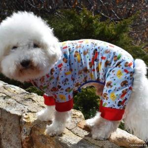 Sassy Dog Sleeper Dog Pajama Jumper PJ in Dog Park theme