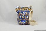 The Dog Walker Bag Gift for Dog Lovers – Puppy Love Blue – with Built in Pet Waste Bag Dispenser