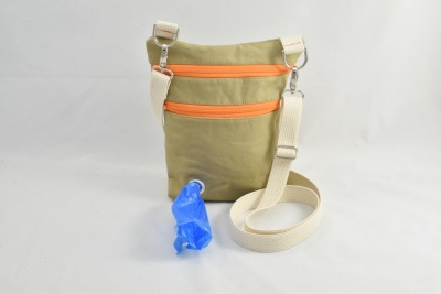 Dog Walker Bag Gift with Built-in Poop Bag Dispenser
