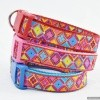 Bright Antwerp Flowers Designer CUSTOM DOG COLLARS for big Dogs in Large Sizes