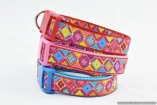 Bright Antwerp Flowers Designer DOG COLLARS in Large Sizes