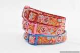 Stunning French Designer DOG COLLARS in Large Sizes – Orange Paperweight – Bright and Colorful – Pet Accessory Gift – Fashion Puppy Animal Walking