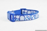 Stunning French Designer DOG COLLARS in Large Sizes – Cobalt Paperweight – Rich and Intense – Pet Accessory Gift – Fashion Puppy Animal Walking