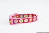 Stunning French Designer DOG COLLARS in All Sizes – Euro Flowers on Magenta – Vibrant- Pet Accessory Gift – Fashion Puppy Walking