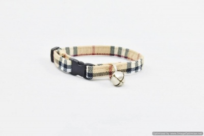 Custom Burberry-Style Cat Collar in America | Sassy Dog Fashions