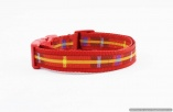 Stunning Red Plaid Designer BEST DOG COLLAR  All Sizes – Holiday Christmas Vibrant- Pet Unisex Lover Accessory Gift – Fashion Puppy Leash
