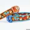 Stunning Jessica Jones Designer Bright Autumn Squirrels & Acorns Best BIG CUSTOM DOG COLLAR