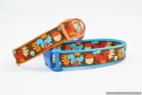 Stunning Jessica Jones Bright Autumn Squirrels and Acorns Best BIG DOG COLLAR Large – Vibrant- Pet Accessory Gift – Fashion Animal Walking