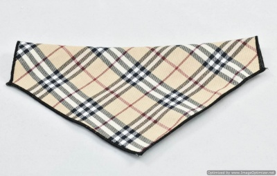 British Tan Beige Plaid Dog Bandana