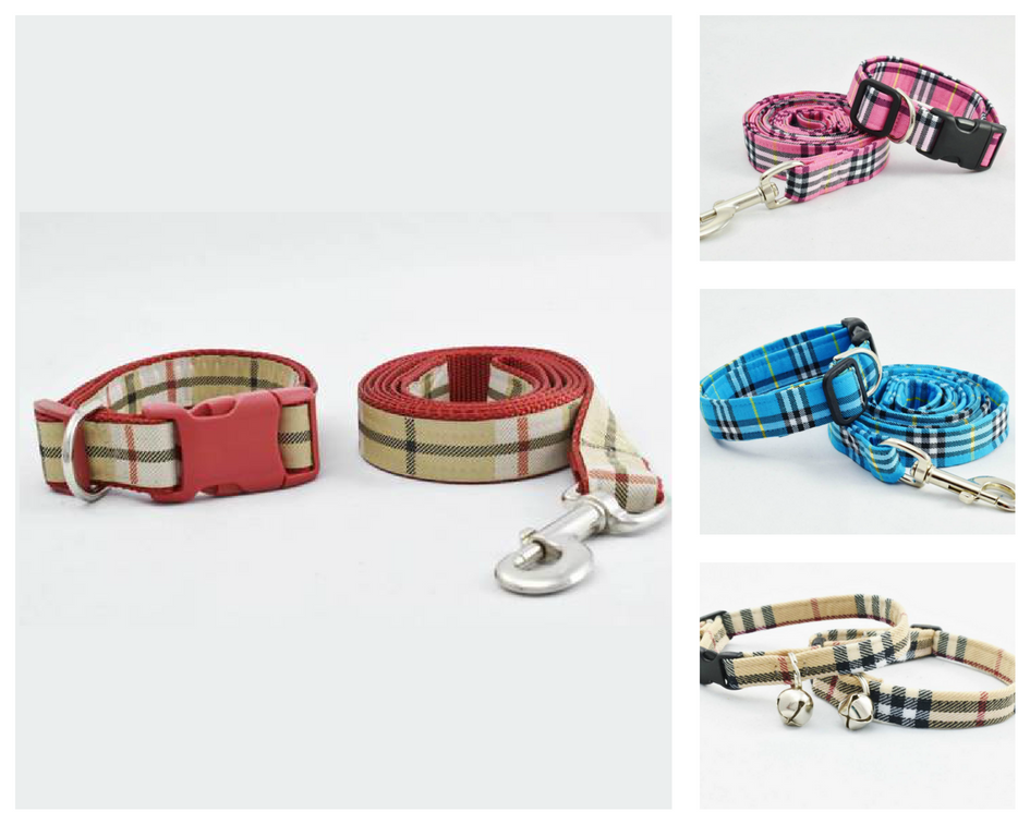 Burberry-Style Pet Collar