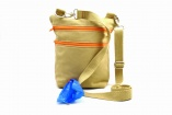 Dog Walker Bag & Treat Pouch Gift with Built-in Poop Bag Dispenser for Dog Lovers in Khaki Canvas with FREE Poop Bags