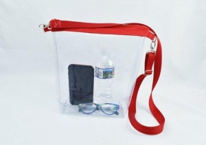 Vinyl Red Crossbody Bag
