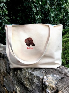 Customized Dog Breed Canvas Tote Bag