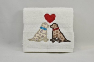 Designer Dog-themed Luxury Spa Towel