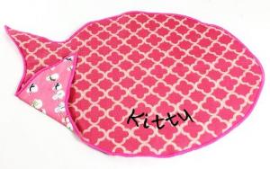 Modern Pink Cat Placemat