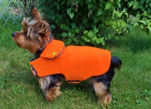 Reversible Field Coat in Hunting Orange