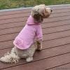 Personalized Custom Dog Hoodies – with Rhinestone Paw Print and NAME OPTION with Leash hole and Kangaroo Pocket