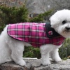 Hot Pink Plaid Dog Jacket Coat in  All Sizes Small to Large and XL