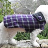 Custom Purple Plaid Dog COAT Jacket
