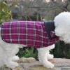 Custom Magenta Plaid Dog COATS Jacket