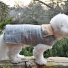Textured Blue Winter Custom Dog COAT Jacket in all Sizes Small to Huge