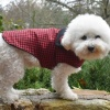 Red Buffalo PLAID Dog Coat Trendy Fashion Accessory with Warm Fleece
