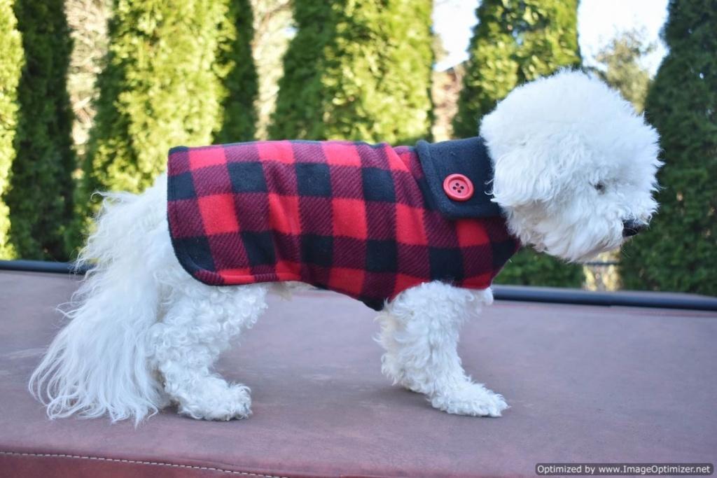 custom unisex red buffalo plaid warm fleece dog coat winter sizes
