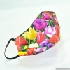 Custom Spring Tulip Floral Contoured Reversible Cloth FACE MASK Spreads Cheer not Fear