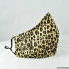 Custom Cheetah Animal Print Ladies Contoured Reversible Cloth FACE MASK for Corona Virus Season