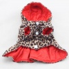 Reversible Leopard Cotton Ruffled Dress Coat in all Sizes for Small to Medium Dogs